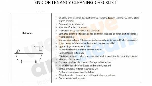 2. Cleaning Checklist – Bathroom-min