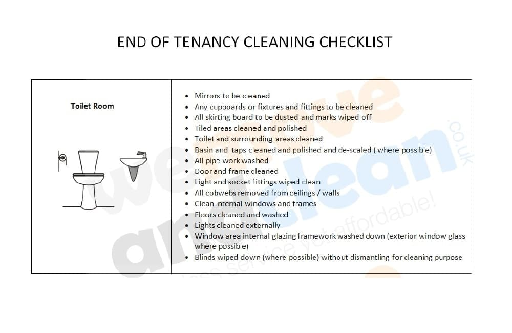 3. Cleaning Checklist – Toilet Room-min