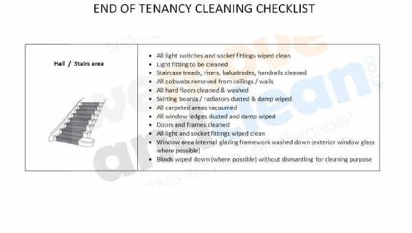4. Cleaning Checklist – Halls & Stairs area-min