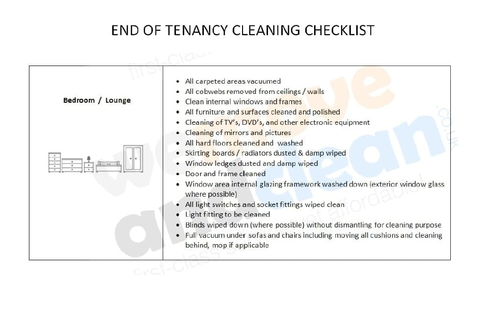 5. Cleaning Checklist – Bedroom-min